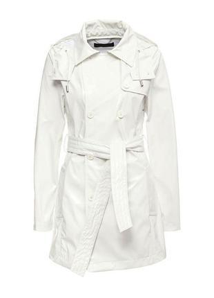 Белый базовый тренч пальто плащ vero moda s-m. vero moda