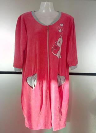 Женский легкий велюровый халат. есть цвета и размеры.