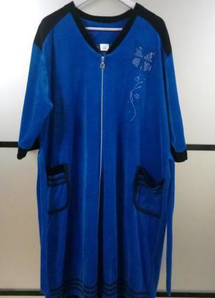 Женский велюровый халат ,есть большие и маленькие размеры расц...