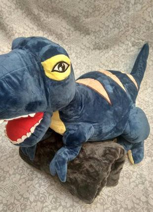 Игрушка подушка динозавр дракон и плед. комплект игрушка и пле...
