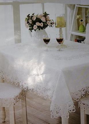 Натуральная льняная скатерть на стол. льняная прямоугольная ск...