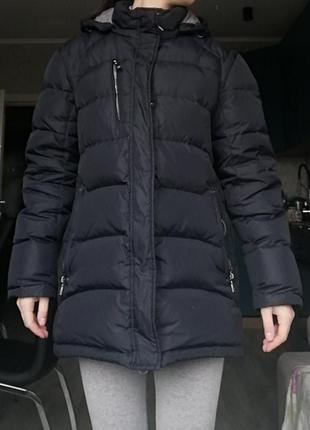 Торг🔥🔥🔥мужской натуральный пуховик. зимняя мужская синяя куртк...