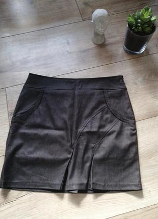 Серая классическая короткая юбка. серая юбка м-л. (48) турция....