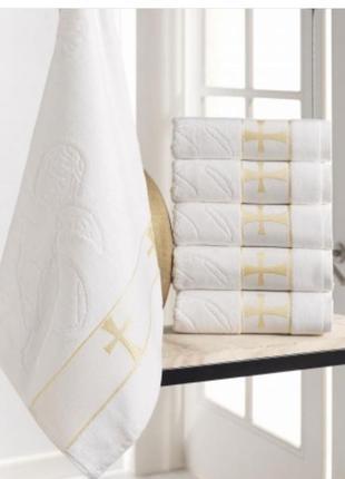 Полотенце для крещения, крыжма. полотенце велюр/махра жаккардо...