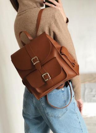 Рюкзак с карманами и пряжками на кнопке-магнит. рюкзак сумка р...