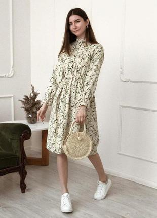 Нежное миди платье из микровельвета.миди платье в цветочный пр...