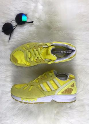 Оригинальные кроссовки женские adidas flux желтые.37-37. 5, 24...
