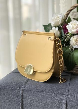 Желтая сумка сумочка клатч на цепочке