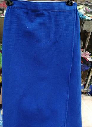 Хлопковый мужской банник килт на липучке. новый синий котоновы...