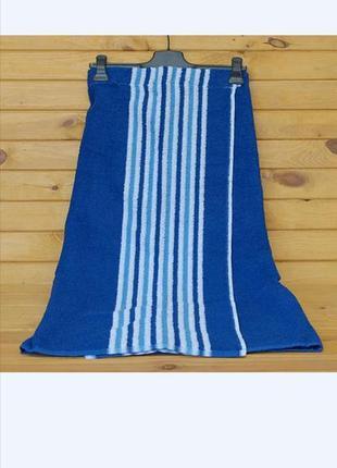 Килт-парео банник махровый 90х150 см синий, в наличии расцветки
