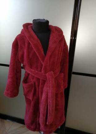 #розвантажуюсь махровый халат 6-8 лет.бордовый махровый халат....