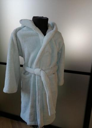 #розвантажуюсь махровый халат 6-8 лет. голубой махровый халат....