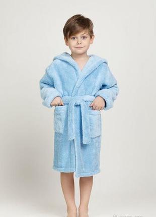 # розвантажуюсь махровый халат 6-8 лет. голубой махровый халат...