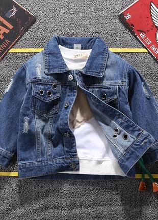 Стильная джинсовая куртка моднице