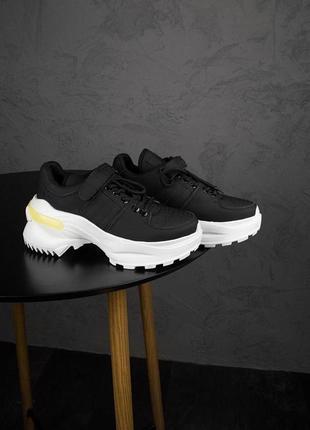 Кроссовки ms sneakers black white 1000-1