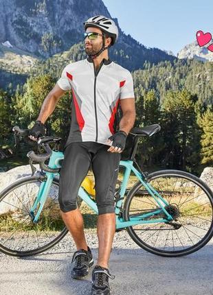 Велокапри crivit , бриджи с памперсом, спортивная одежда