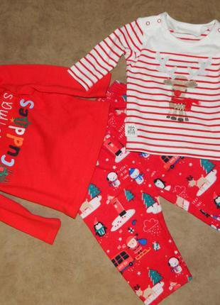 Комплект костюм детский новогодний на малыша 1-6 месяцев
