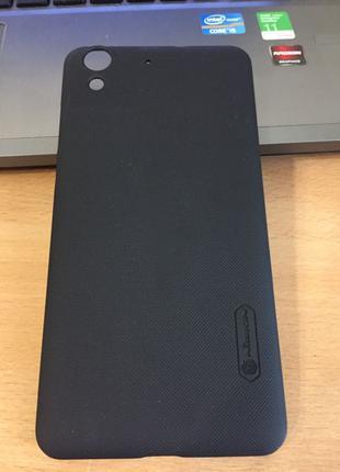 Чехол накладка для Huawei Y6 II/ Honor 5A/ Y6 2 черный пластик