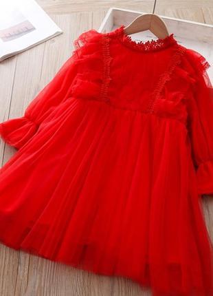 Яркое нарядное платье девочке
