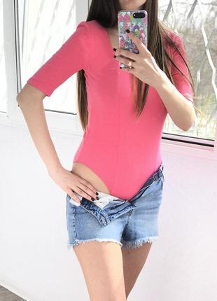 Новое розовое боди, блуза-боди cropp town