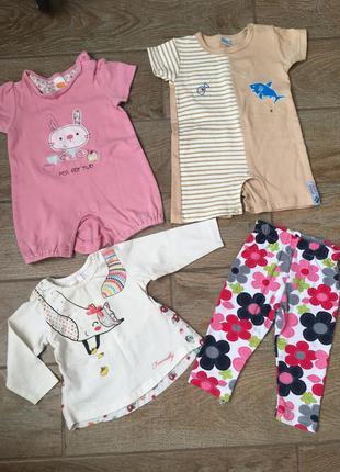 Набор одежды для девочки на лето: лосины, песочники, реглан