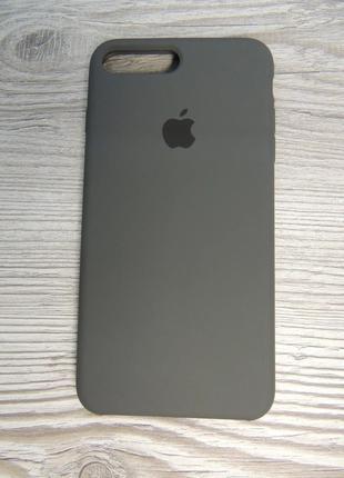 Silicone Case iPhone 7/8 Plus Cocoa (темно-серый)