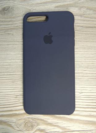 Silicone Case iPhone 7/8 Plus Midnight Blue (серо-синий)