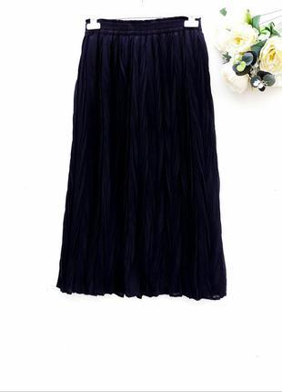 Красивая юбка миди юбка плиссе на резинке