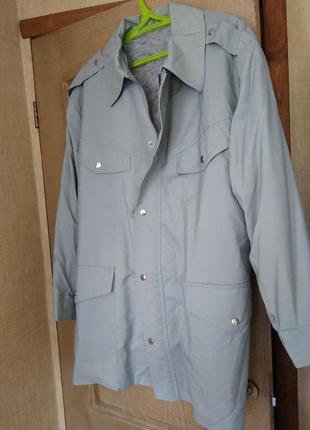 Утепленная мужская куртка/пальто/плащ с меховой подстежкой