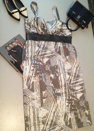 Красивое платье с принтом по фигуре большого размера.01