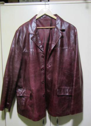 Кожаный пиджак river island вишневого цвета