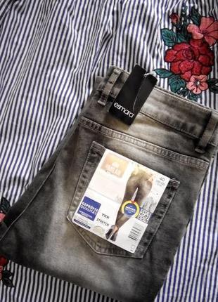 Графитовые джинсы скини высокая посадка размер 14 esmara