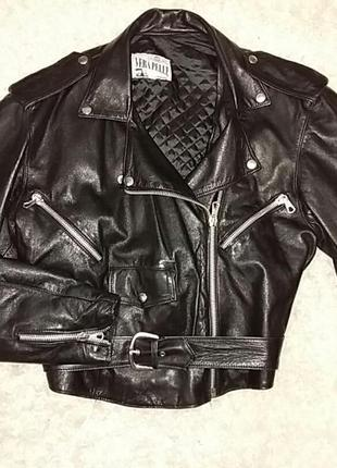 Косуха кожа куртка байкерська