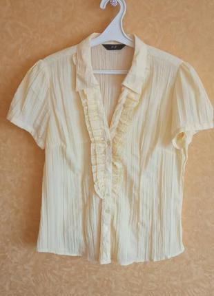 Нежная рубашка/блузка с рюшем/самые низкие цены🙀🤑
