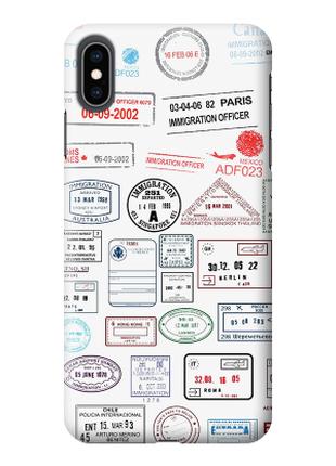 Чехол «штампы» для Iphone XS Max Силиконовый