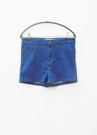 Высокие синие джинсовые шорты 🌿