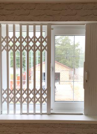 Металлические раздвижные решетки на окна и двери