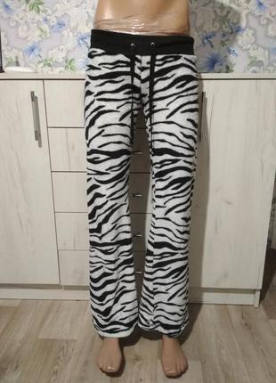 Пушистые пижамные штаны для дома и сна зебра #розвантажуюсь