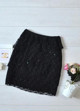 Красива кружевна юбка з пайетками elite