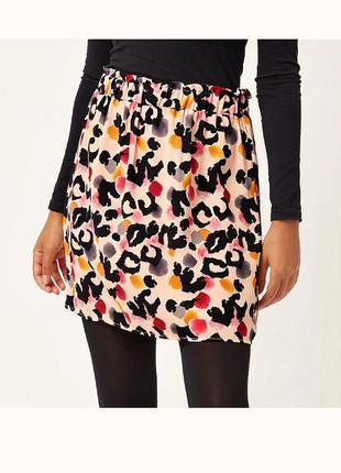Очаровательная юбка миди в стиле paper bag с принтом р.16
