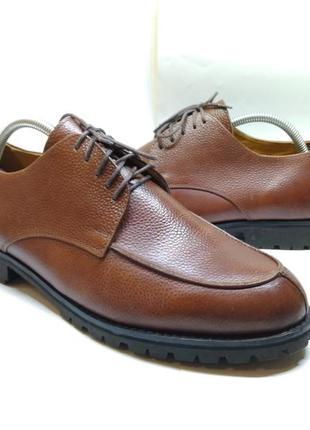 Кожаные туфли броги оксфорды lincoln&york 43р