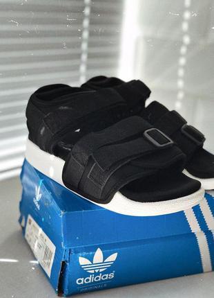 Шикарные женские черные сандали/ босоножки adidas 😍 (лето)