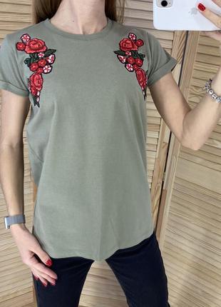 Хлопковая футболка с вышивкой fb sister
