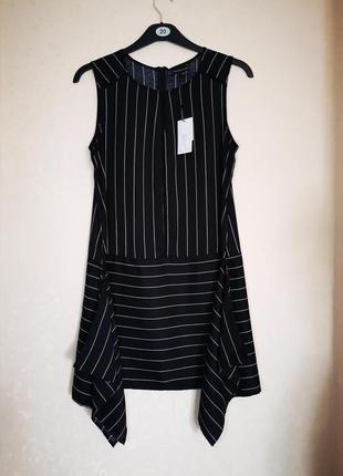 Стильное платье сарафан в полоску