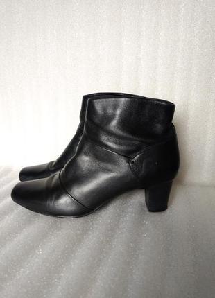 Р 6 / 39-40 26 см черные кожаные демисезонные ботинки полусапо...