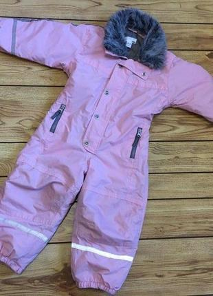 Зимний\демисезонный комбинезон h&m размер 2-3 года для девочки