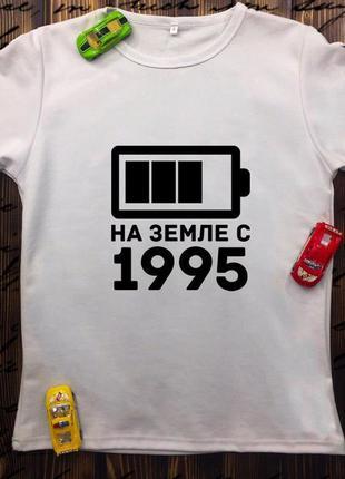Мужская футболка с принтом - батарейка