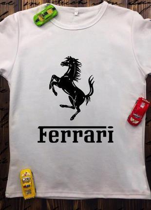 Мужская футболка с принтом - ferrari