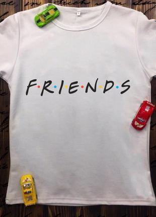 Мужская футболка с принтом - друзья