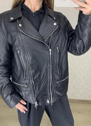 Кожаная куртка косуха из мягкой кожи french connection